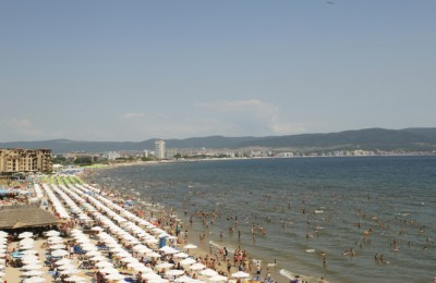 The beach of Sunny beach, Bulgaria