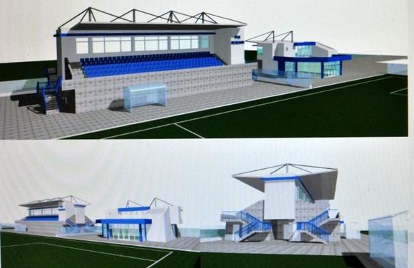 Визуализация на двустранната трибуна на стадиона в Несебър-1
