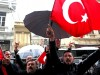 epa05844021 Supporters of Turkish President Recep Tayyip Erdogan shout slogans against Netherlands during a protest in front of Netherlands Consulate, in Istanbul, Turkey 12 March 2017. Turkish Family Minister Fatma Betul Sayan Kaya was barred by police from entering the Turkish consulate in Rotterdam on 11 March, after the Dutch government had denied landing rights to Turkish Foreign Minister Cavusoglu who planned a speech at the consul's residence in Rotterdam. The incidents have led to a diplomatic row between the two countries, and protests by Turkish citizens in the Netherlands as well as in Turkey.  EPA/TOLGA BOZOGLU