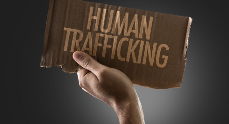 Human Trafficking sign