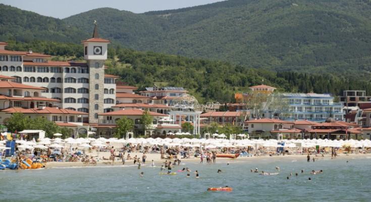 The beach at Sunny Beach, Bulgaria