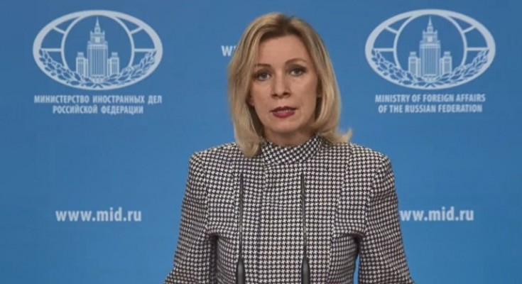 epa05894004 A still image from a handout video made available 07 April 2017 by Russian Foreign Affairs Ministry's press service on the official website of the Russian Foreign Affairs Ministry shows Russian Foreign Ministry spokesperson Maria Zakharova making an official statement on U.S. military action in Syria on 07 April 2017. The US launched at least 50 US missile strikes against al-Shayrat military airfield near Homs, Syria, in response to the Syrian military's alleged use of chemical weapons in an airstrike in a rebel held area in Idlib province. The Russian government stated that Russia suspends the Memorandum of Understanding on Prevention of Flight Safety Incidents in the course of operations in Syria that it signed with the US government.  EPA/RUSSIAN FOREIGN AFFAIRS MINISTRY / HANDOUT  HANDOUT EDITORIAL USE ONLY/NO SALES
