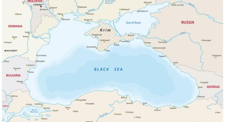 black sea vector map