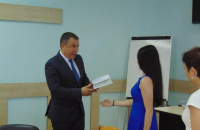 1 Кметът Николай Димитров и Габриела КолеваDSC00795