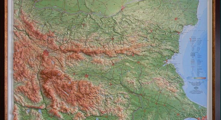 релефна карта на България