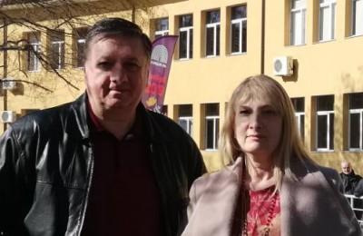 Проф. Караджов и проф. Константинова